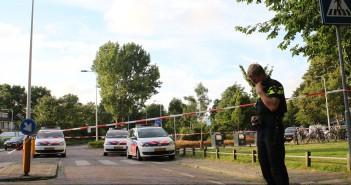 Schietpartij, verdachte neergeschoten door politie, Arendshorst in Leiden