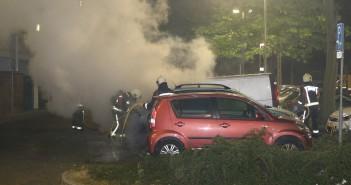 Tweede autobrand in uur tijd, Koolmeesstraat in Leiderdorp