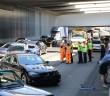 Ongeval tussen meerdere personenauto's, Rijksweg A4 in Leiden