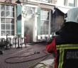 Forse brand in kroeg, Haarlemmerstraat in Leiden