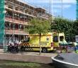 Persoon gewond na val van hoogte, Kaarsenmakersstraat in Leiden