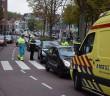 Veel schade na kettingbotsing, Pelikaanstraat in Leiden